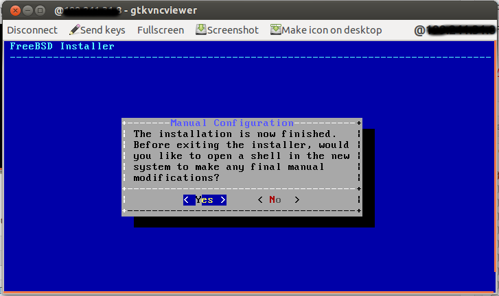 freebsd install finished