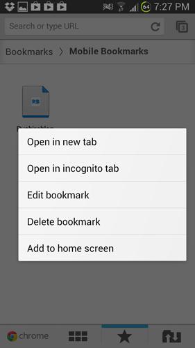 website on chrome bookmarks
