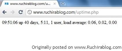 uptime1 Simple PHP Web uptime script