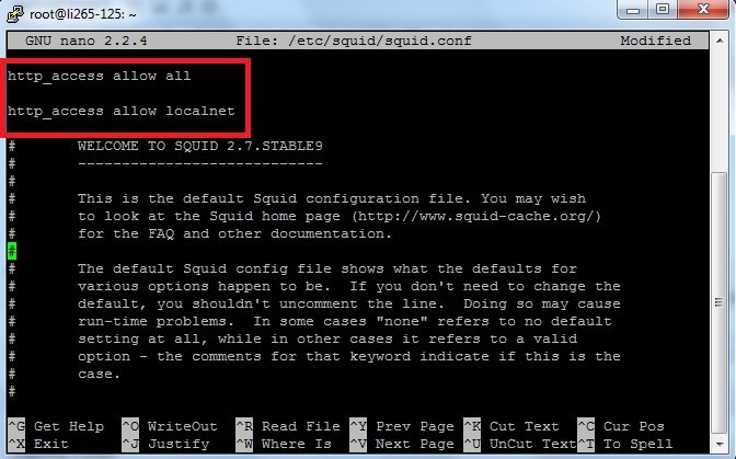 squid modified conf Setup Squid as a HTTP proxy to browse blocked web sites!