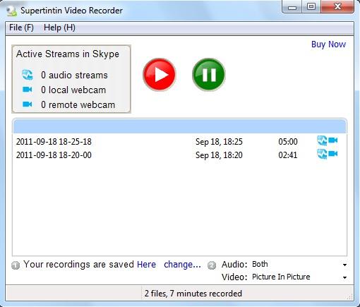 supertintin How to record skype video calls