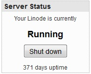 371 days of uptime 1+ Years of Uptime with linode! Review
