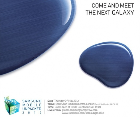 samsung galaxy s iii invite Galaxy SIII is coming on May 3rd. If Exynos 5250 Im sold ASAP!