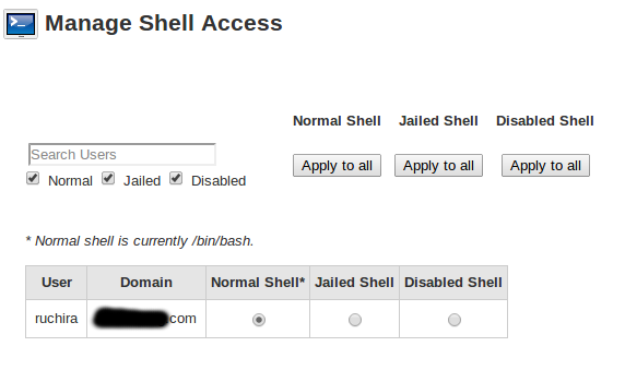 disable shell access
