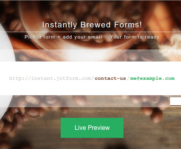 jotform instant Create web forms in under a minute with JotForm Instant
