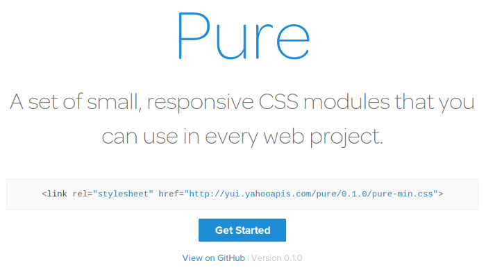 purecss Pure is the yahoos answer to Bootstrap and it looks great!